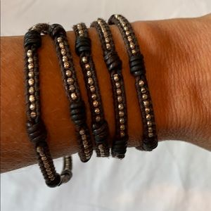 Chan Luu 5 Wrap Leather Bracelet